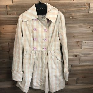 Tulle Lightweight beige and pink Peacoat Size S